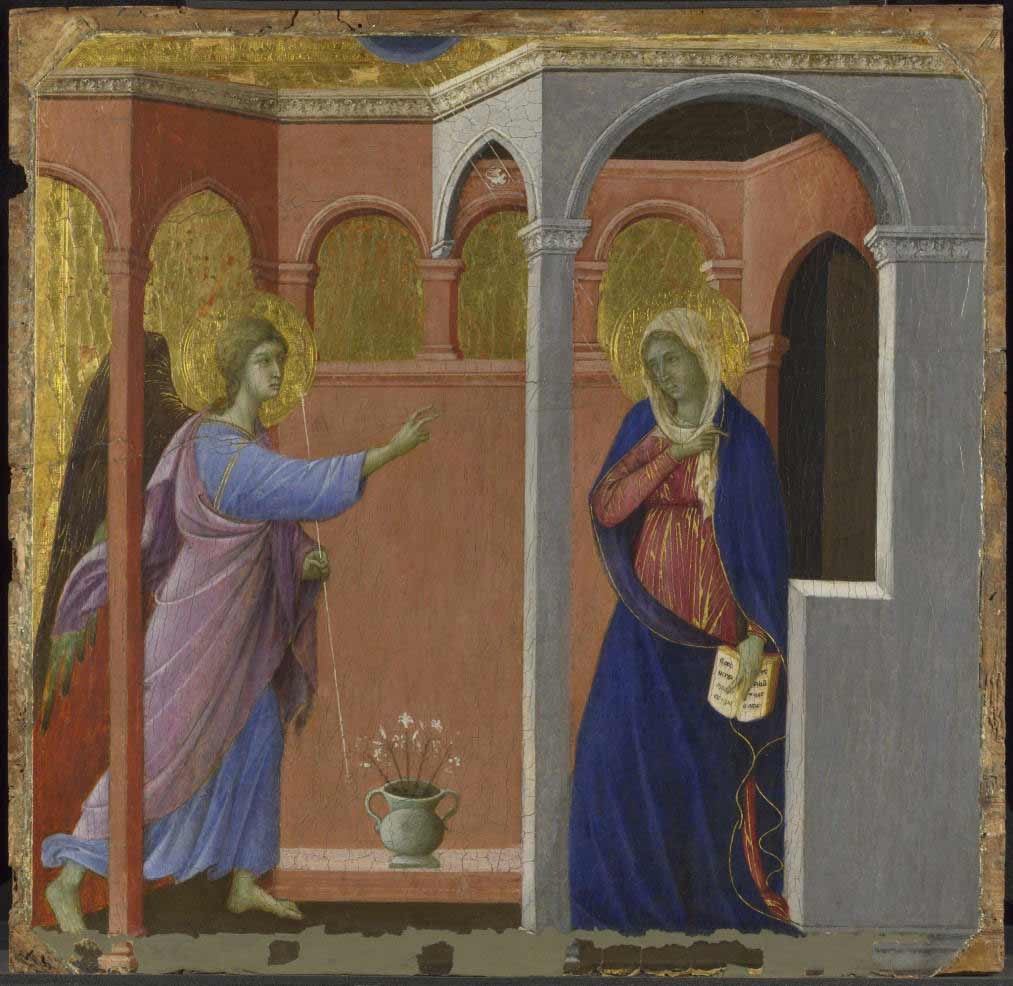 Annonciation, Prédelle du retable de la Maestà