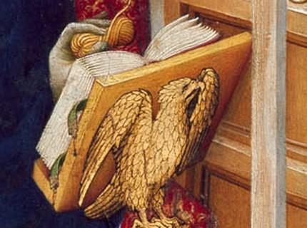 livre ouvert et aigle doré