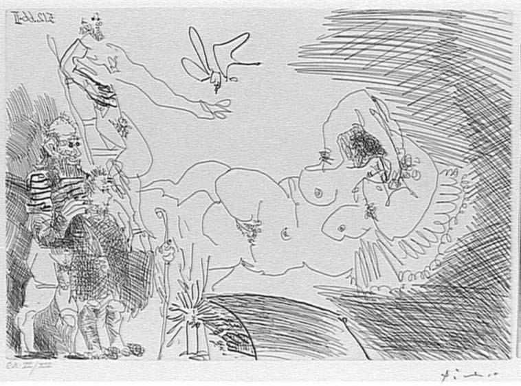 Variation sur le thème de l'Annonciation, avec deux bergers