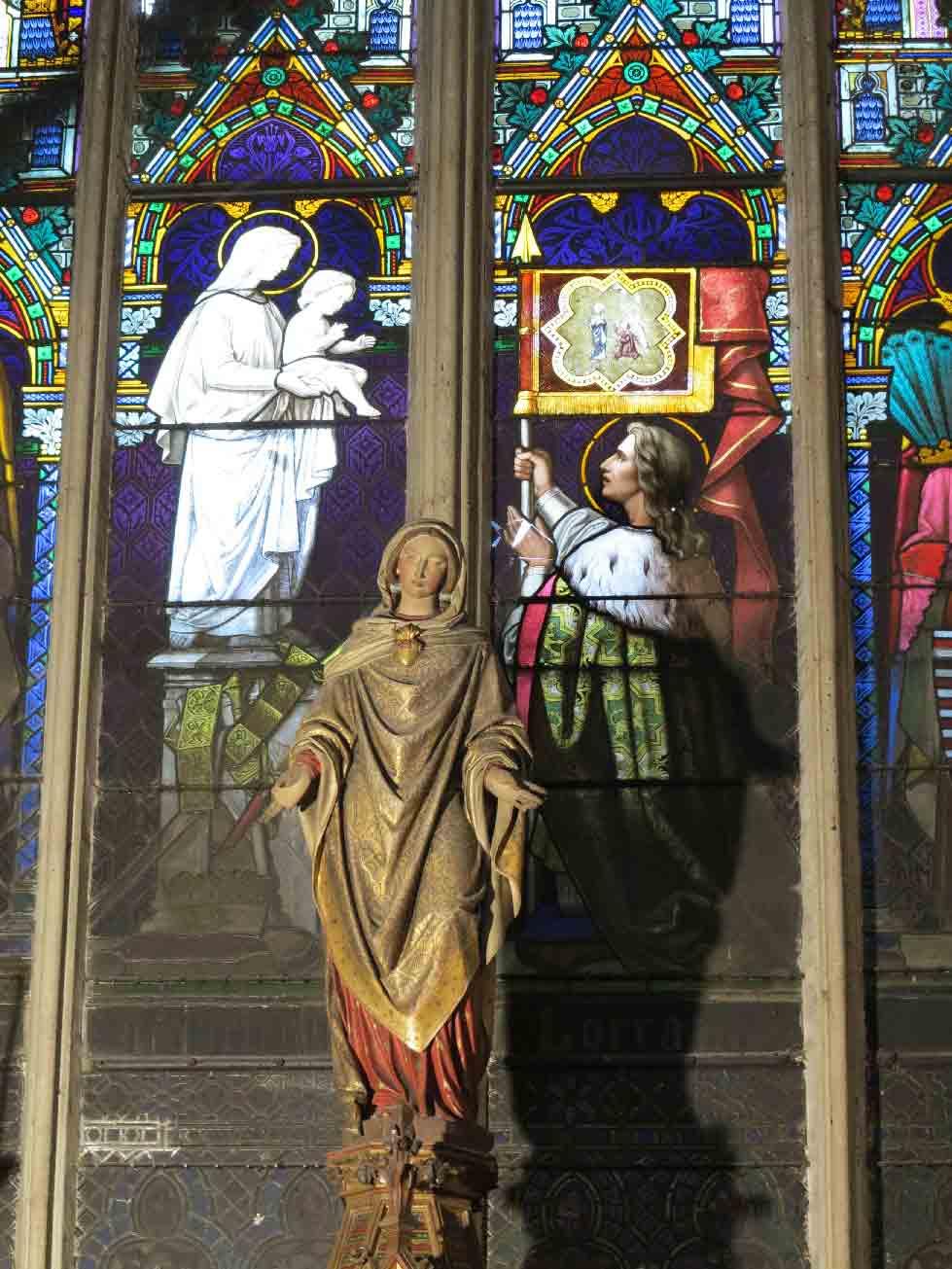 René II de Lorraine en prière devant une statue de la Vierge à l'Enfant (détail)