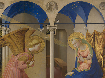 Détail de l'Annonciation de Fra Angelico